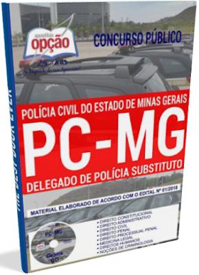 Apostila PC-MG 2018 Delegado de Polícia Substituto