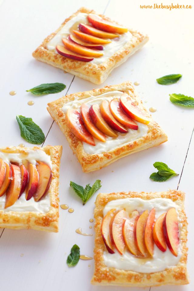 Fresh Nectarine Tarts with Lemon Mascarpone Filling www.thebusybaker.ca