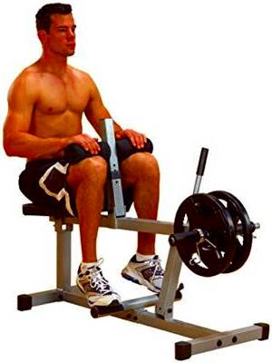 Seated calf exercise.