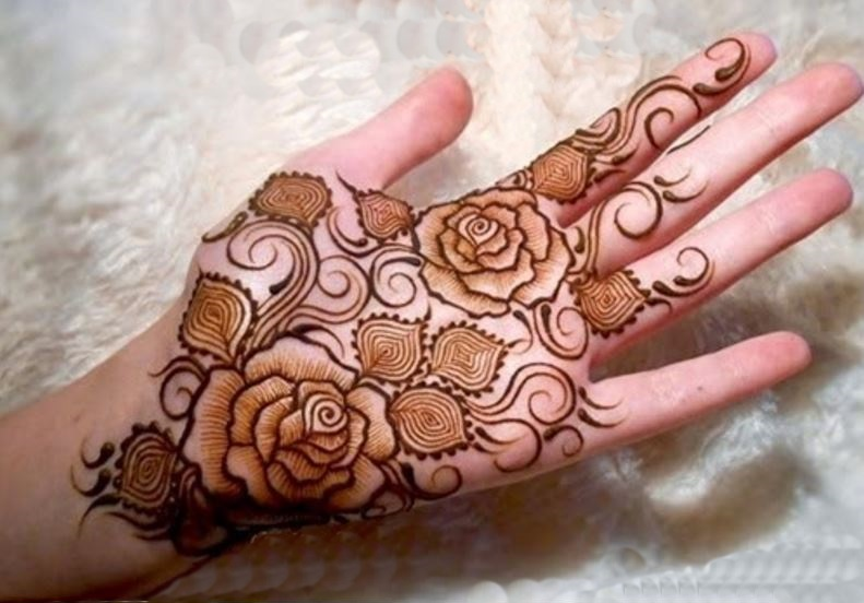 New Mehndi Flower Design : Latest floral henna mehndi designs for hands bling