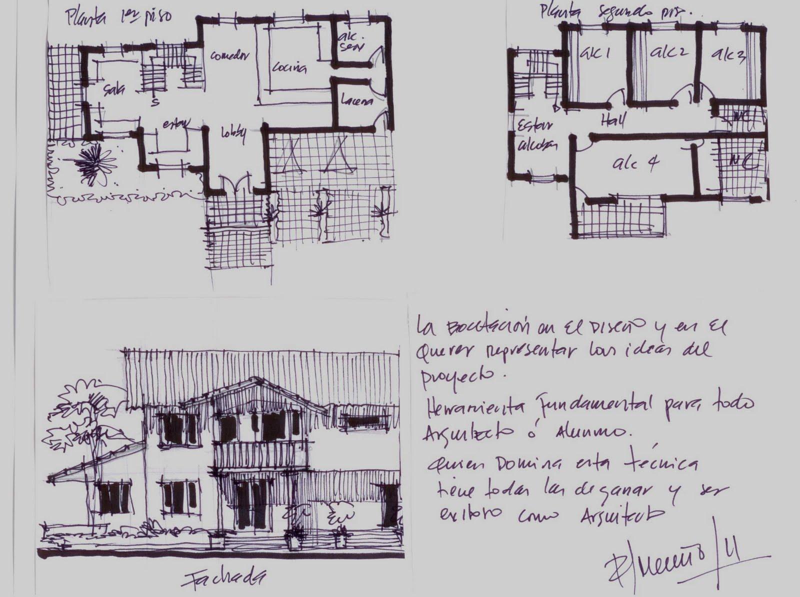 Revista digital apuntes de arquitectura bocetos a mano for Que es diseno en arquitectura