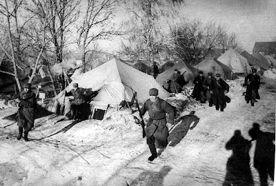 Military exercise in Polish camp at Tockoje- Russia 1941-1942
