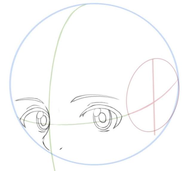 Dessiner des yeux manga de côté: dessiner les sourciles