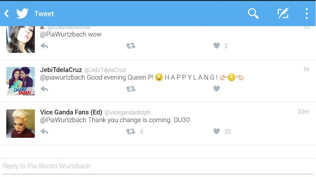LOOK: Is this a sign that Pia Wurtzbach is for Mayor Duterte?