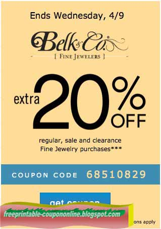 Belk Printable Coupon