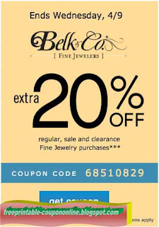 Free Printable Belk Coupons