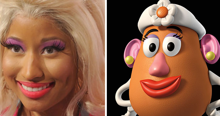 #7 Nicky Minaj Looks Like Mrs Potato Head - 10 Real Life Disney Characters