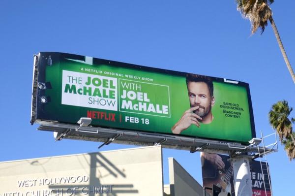 Joel McHale Show series premiere billboard