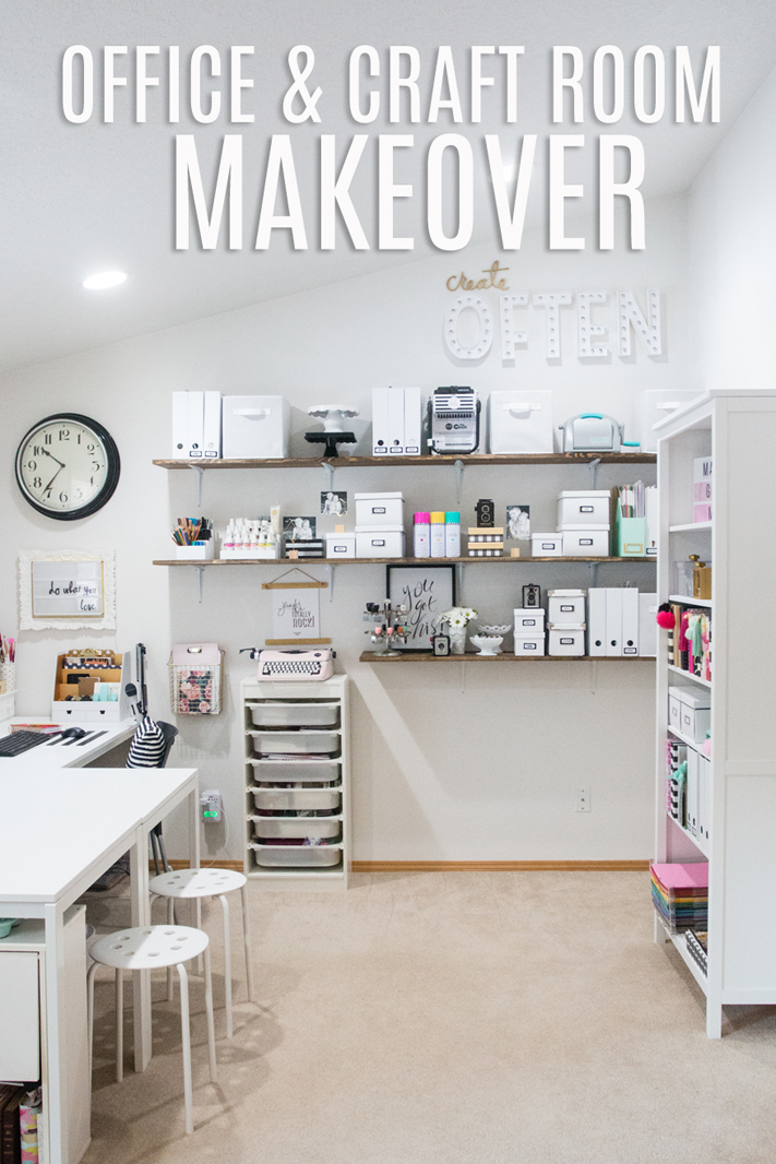Office and Craft Room Makeover by @Jennifer Evans for @Heidi Swapp