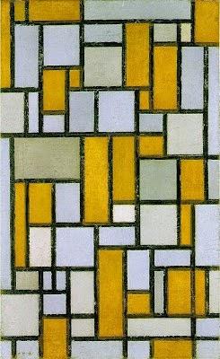 Composição com Cinza e Marrom Claro - Piet Mondrian e Suas Pinturas | Criador do Neoplasticismo