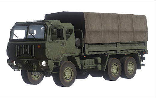 Arma3用FFAA スペイン軍MODのIveco M-250トラック