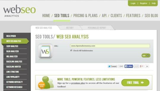 webseoanalytics - Website SEO Report