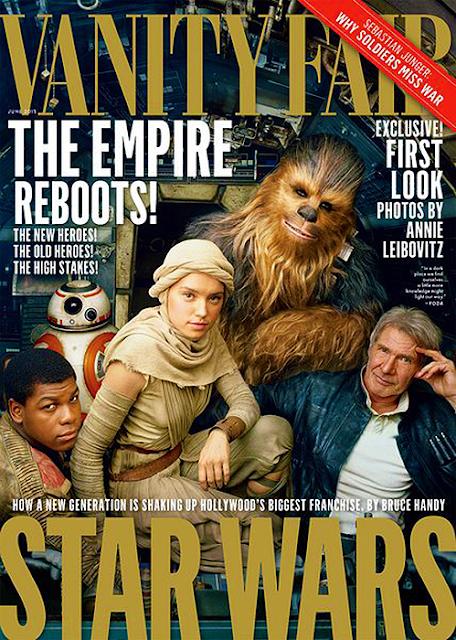 Han Solo, Chewbacca, Rey, Finn și BB-8, au ajuns pe coperta revistei Vanity Fair