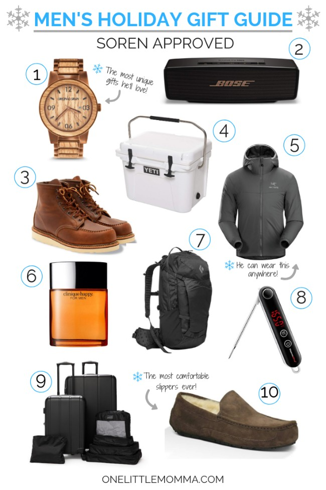 Men's Holiday Gift Guide - One Little Momma