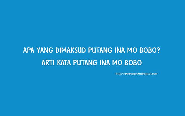 Apa Yang Dimaksud Putang Ina Mo Bobo? Arti 'Putang Ina Mo Bobo'