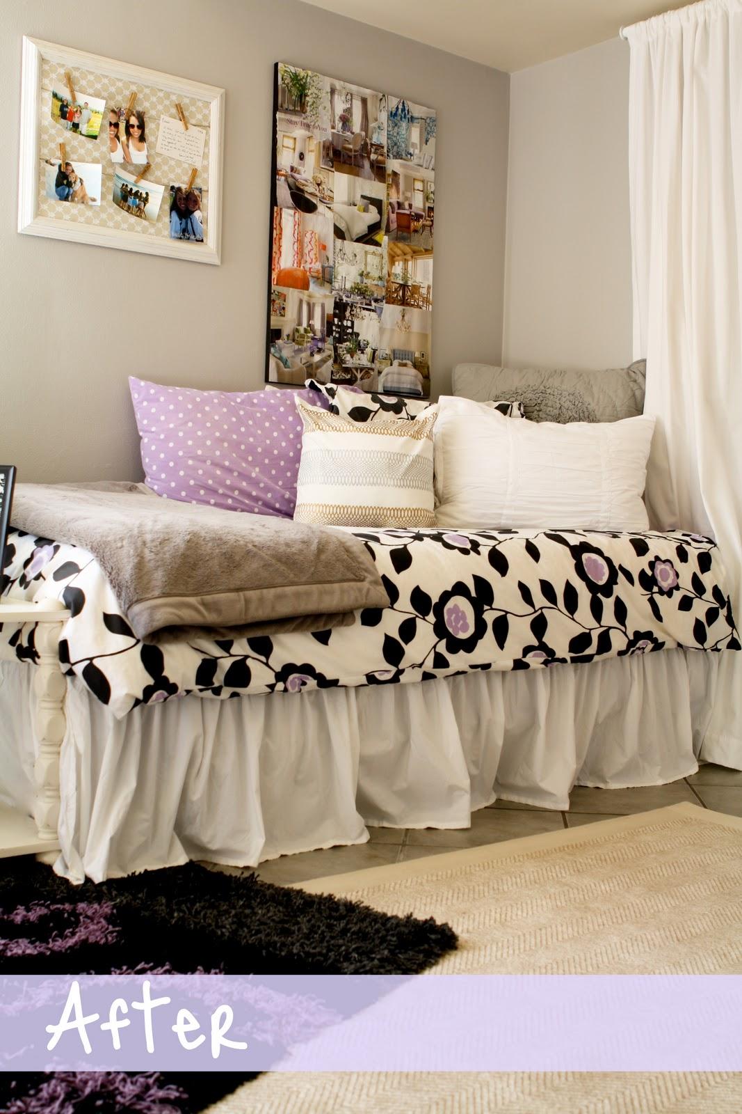 Purple gray white oh my michaela noelle designs - Cute room decor ideas ...