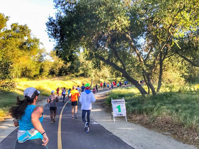 American River Parkway Half Marathon mile 1