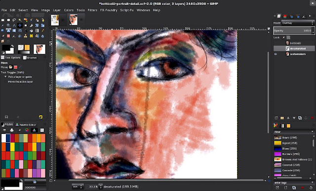 Screenshot of the watercolors made with the Forks Pencils series.