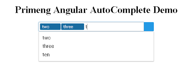 primeng angular autocomplete multiple values select
