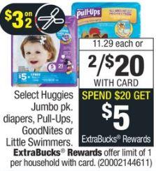 Huggies Diapers  cvs deals