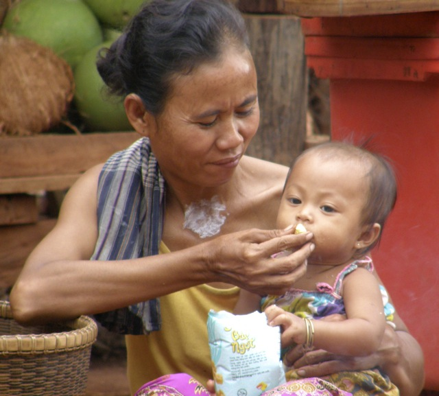Mother and child in Cambodia