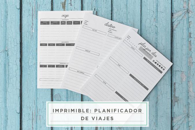 milowcostblog: imprimible: planificador de viajes