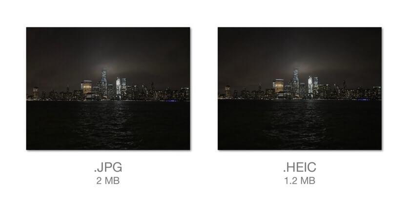 Perbandingan JPG vs HEIC Format Gambar Baru iOS 11