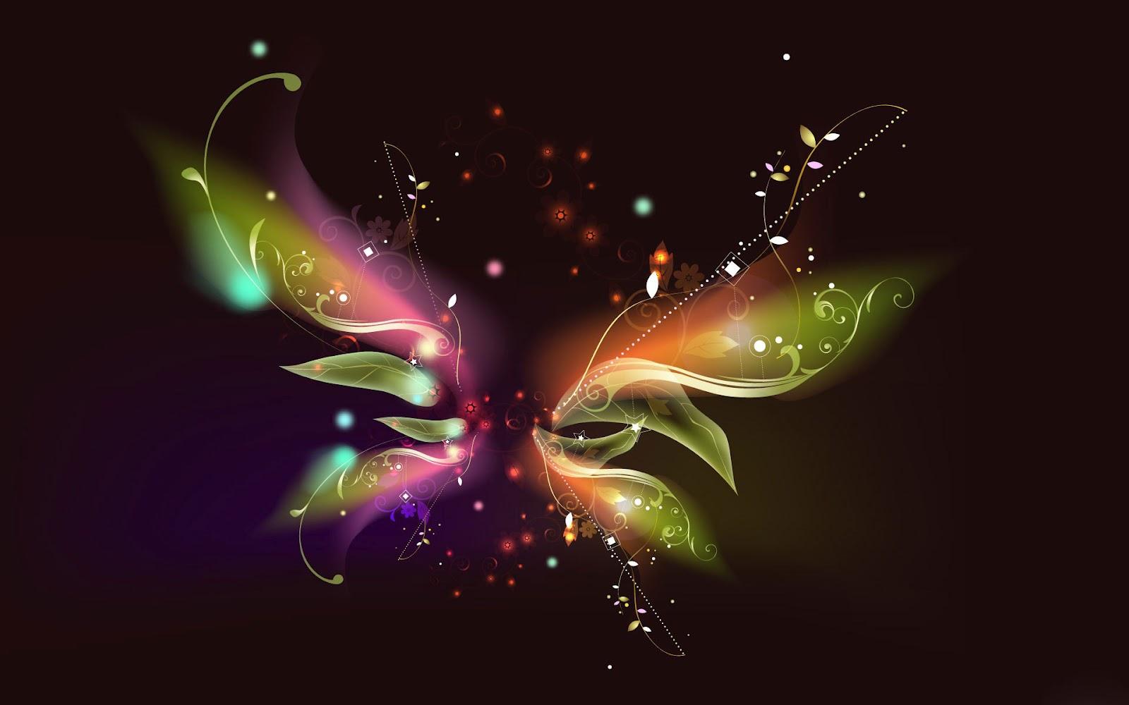 Neon Butterfly Desktop Background: Unique Wallpaper