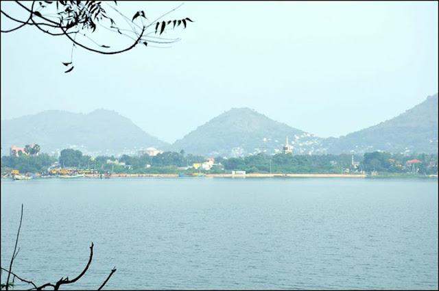 Vijayawada from Bhavani Island