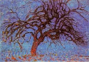 Árvore Vermelha - Piet Mondrian e Suas Pinturas | Criador do Neoplasticismo