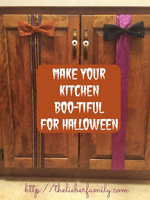 Blog With Friends, Tricks and Treats | How to Make Your Kitchen Boo-tiful for Halloween  by Rabia of The Lieber Family Blog | shared on www.BakingInATornado.com | #Halloween