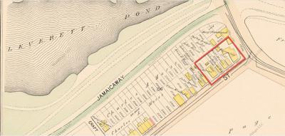 Maps of  Heath Street near the Brookline line, 1895