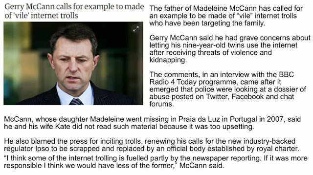 Chapter 13: The McCann family, and the Dossier of Death  Trolls