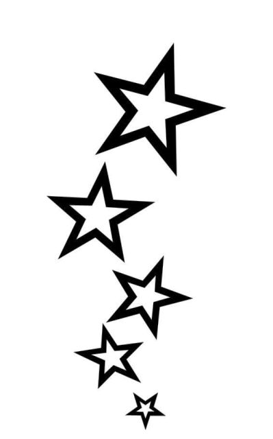 Simple Shooting Star Tattoo Designs - Tattos For Men