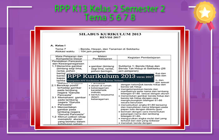 RPP K13 Kelas 2 Semester 2 Tema 5 6 7 8