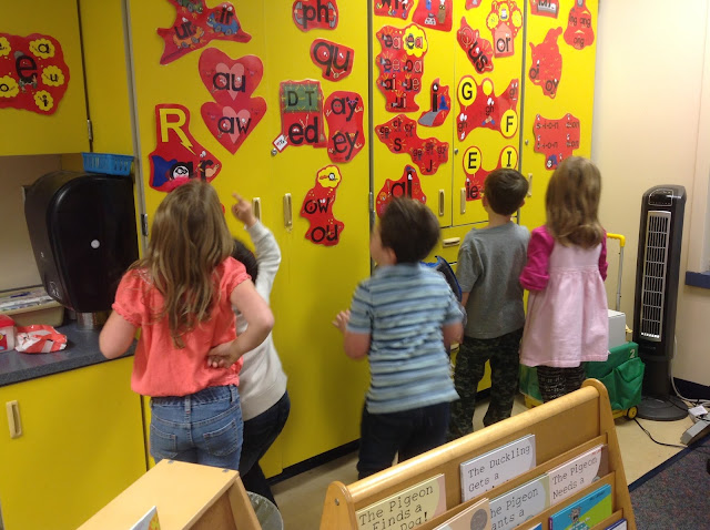 "Secret Stories® Phonics Secrets— ""Kindergartners stalking the Secret Stories® Posters"""