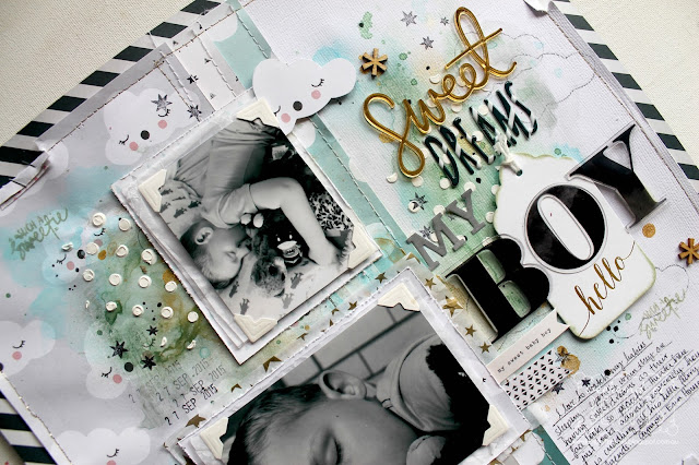 """ Sweet Dreams"" layout by Bernii Miller for Sugar Maple Paper Co using the It's Raining Men kit."
