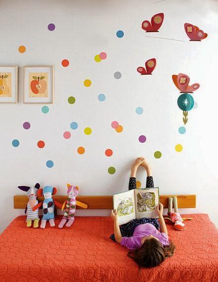 Dormitorios para ni os con c rculos en las paredes - Paredes para ninos ...