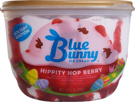 On Second Scoop Ice Cream Reviews Blue Bunny Hippity Hop Berry Ice