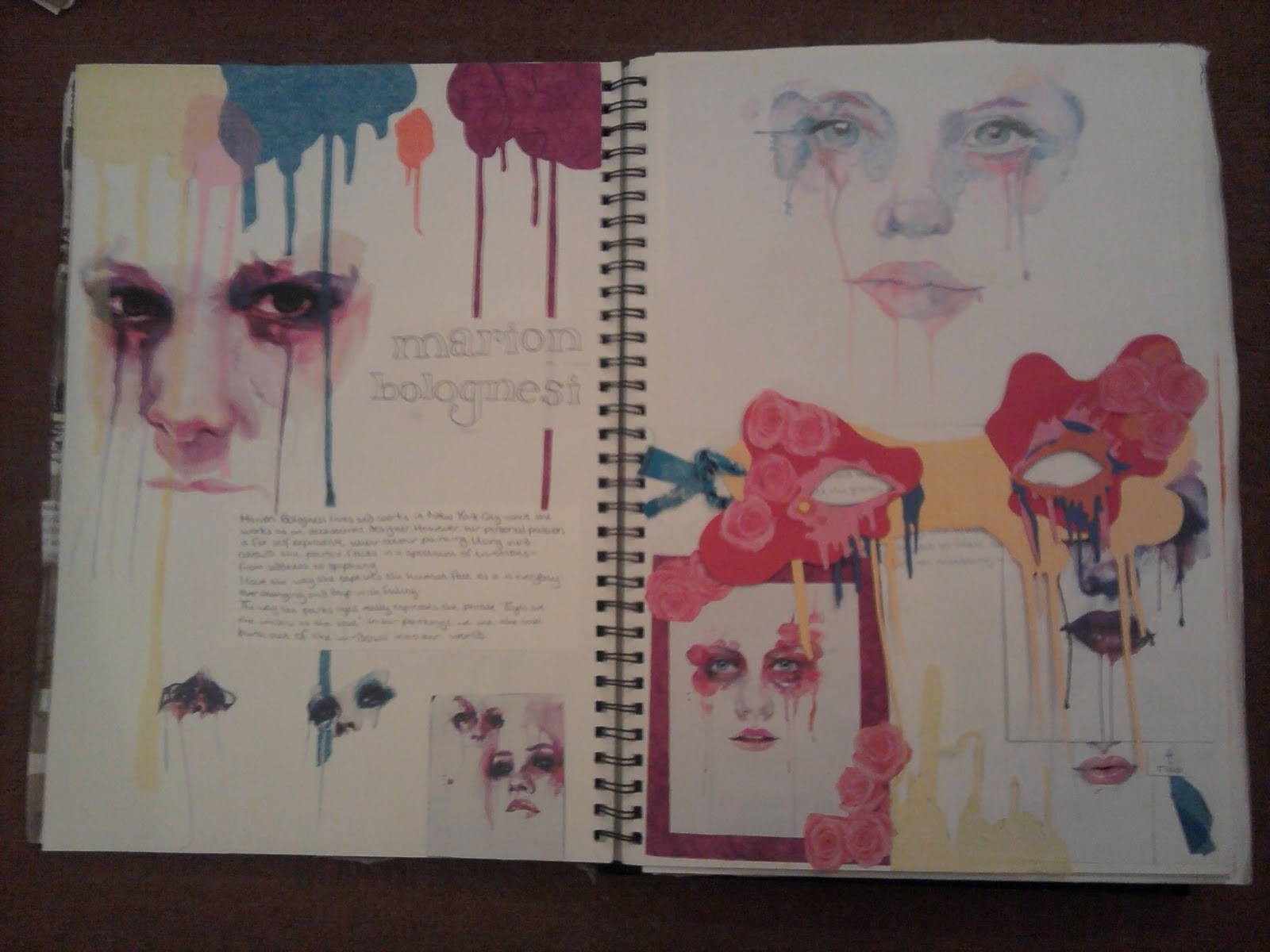 Year 10 Art Coursework Sketchbook Project