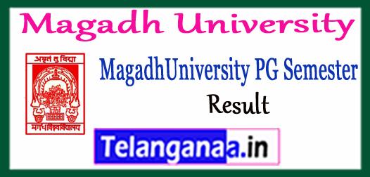 Magadh University MA M.Sc M.Com PG 1st 3rd Semester Result 2017