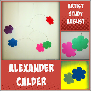 Artist Study - Alexander Calder on the Virtual Refrigerator, an art link-up hosted by Homeschool Coffee Break @ kympossibleblog.blogspot.com #virtualfridge