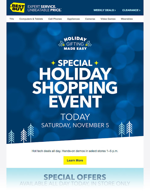 Best Buy holiday email campaign