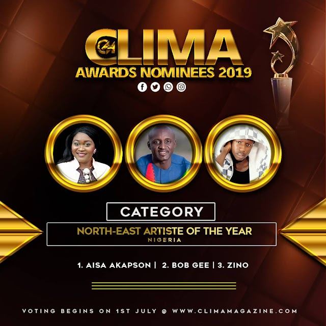 AISA AKAPSON NOMINATED BY CLIMA FOR NORTHEAST ARTIST OF THE YEAR 2019