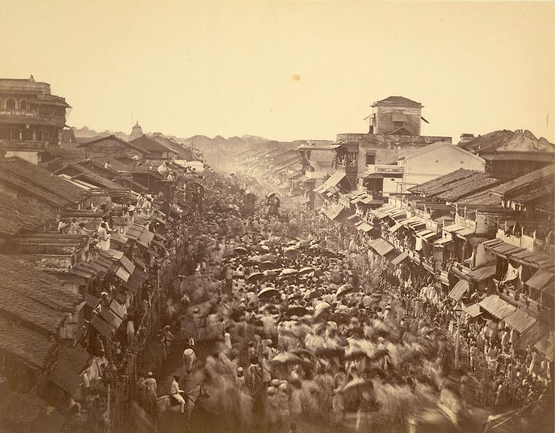 A State procession in Baroda (Vadodara), Gujarat - Circa 1880