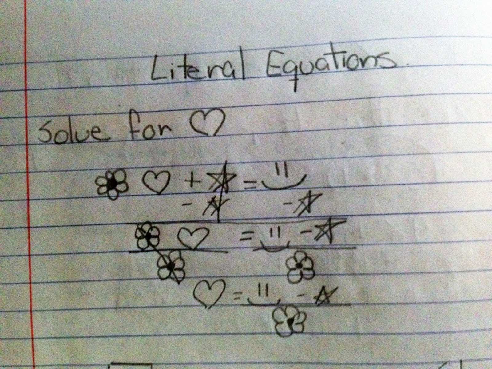 Math Dyal Lovin Literal Equations