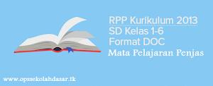 RPP Penjas SD kurikulum 2013 Kelas 1, 2, 3, 4, 5 dan 6 - Ops Sekolah Dasar