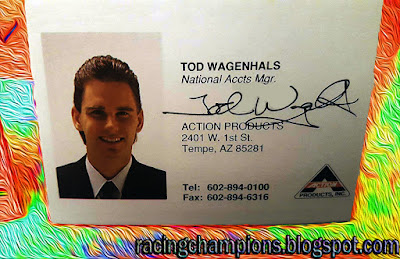 Tod Wagenhals Action Racing Champions NASCAR 1/64 diecast blog 1989