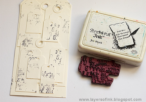Layers of ink - One Tag, Many Tags Tutorial by Anna-Karin
