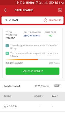 Join league